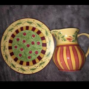 Gail Pittman handpainted pottery